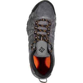 Columbia Canyon Point Leather Omni-Tech Zapatillas Hombre, dark grey/bright copper